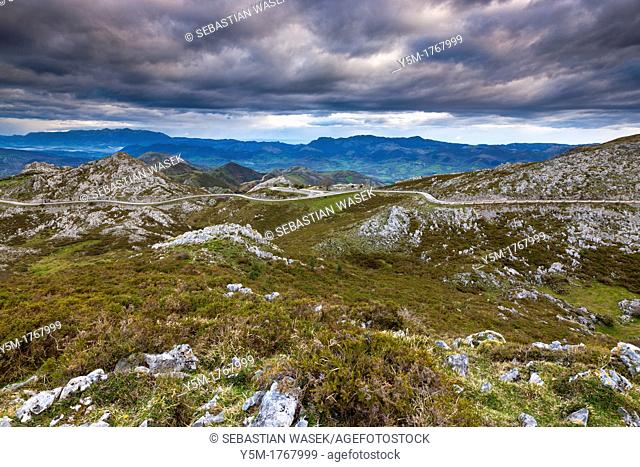 View on montain near Mirador de La Reina at Covadonga, Picos de Europa National Park, Asturias, Northern Spain