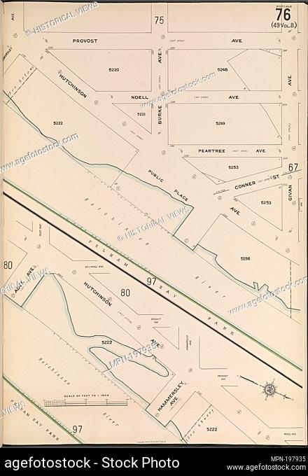 Bronx, V. 18, Plate No. 76 [Map bounded by Provost Ave., Givan Ave., Adee Ave.]. Sanborn Map Company (Publisher). Atlases of New York City New York City and...