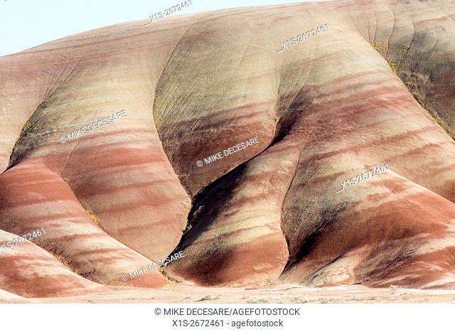 Alternating bands of color define the geologic record and the Painted Hills in East Central Oregon