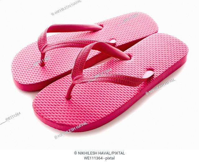 Pair pink flip flop