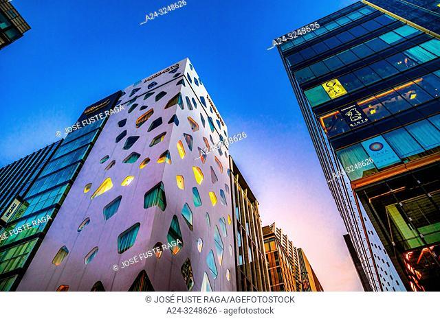 Japan, Tokyo City, Ginza District, Bldg
