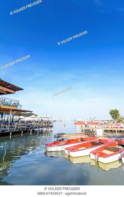 Rust, Neusiedler See (Lake Neusiedl), restaurant, jetty, rental boats, Neusiedler See (Lake Neusiedl), Burgenland, Austria