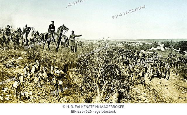 Historical photograph, Helmuth Karl Bernhard Graf von Moltke, Prussian Field Marshal during the siege of Paris, Franco-Prussian War or Franco-German War