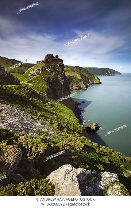 Wringcliff Bay near the Valley of the Rocks in the Exmoor National Park