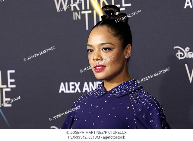 "Tessa Thompson at the World Premiere of Disney's """"A Wrinkle In Time"""" held at the TCL Chinese Theatre in Hollywood, CA, February 26, 2018"