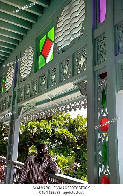 Old Dispensary restored by the Aga Khan Charitable Trust, Stone Town, Zanzibar City, Unguja island, Zanzibar archipelago, Tanzania, East Africa