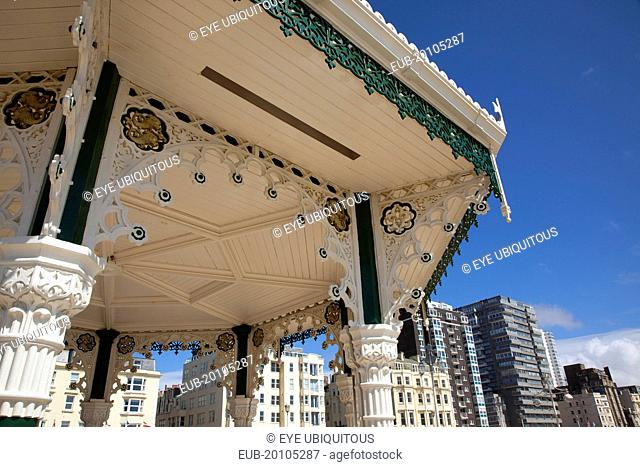 Kings Road Arches restored seafront Victorian bandstand