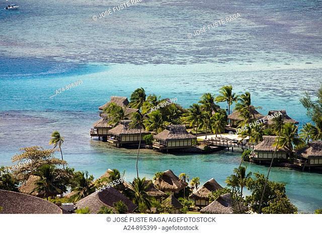 Huts at the InterContinental resort, Moorea, Society Islands, French Polynesia (May, 2009)