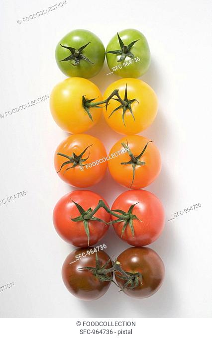 Cherry tomatoes various colours