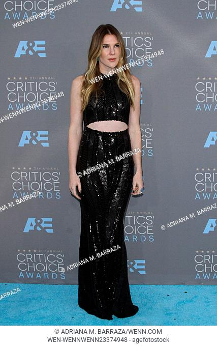 21st Annual Critics Choice Awards 2016 held at the Barker Hanger Airport in Santa Monica. Featuring: Lily Rabe Where: Los Angeles, California