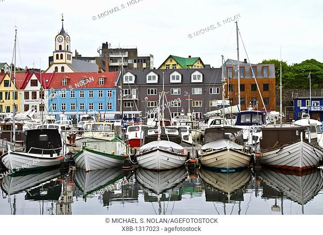 Views of the town of Tórshavn on Streymoy Island in the Faroe Islands  MORE INFO The Faroe Islands lie halfway between Iceland and Norway  They have been an...