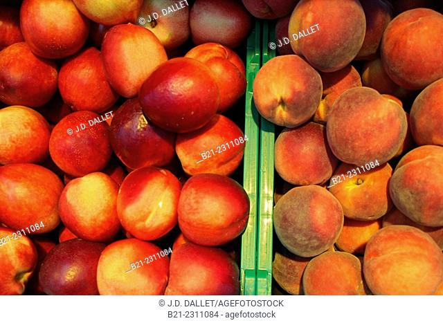 Nectarines and peaches