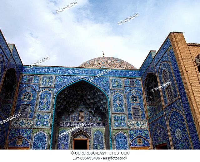 Sheikh Lotf Allah Mosque entrance in Naghsh-i Jahan Square, Isfahan, Iran