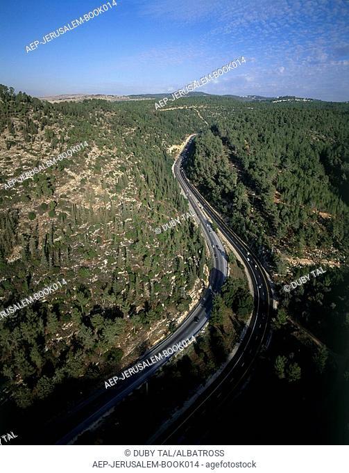 Aerial photograph of the valley gate - Sha'ar Ha'gay