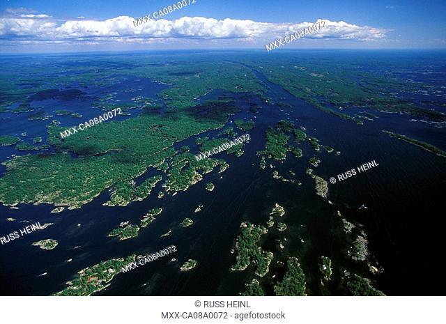 Aerial of Georgian Bay, Ontario, Canada