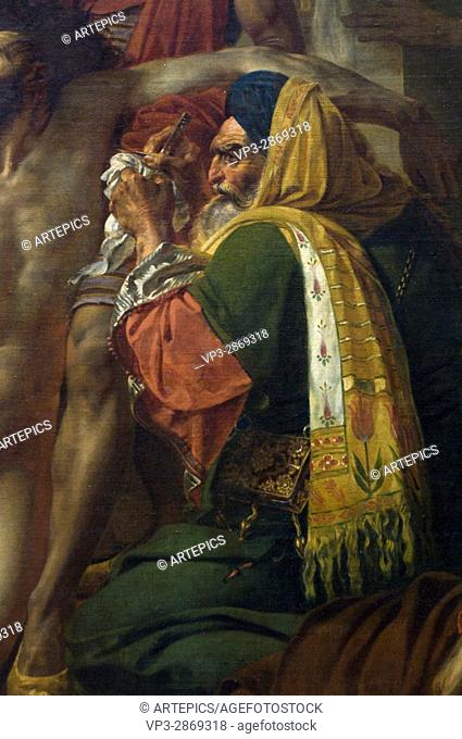 Baron Antoine-Jean Gros. Bonaparte visitant les pestiférés de Jaffa (1799) - Bonaparte visiting the pestiferous ones of Jaffa (1799). retail. 1804