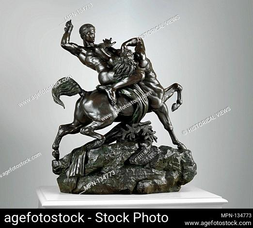 Theseus Fighting the Centaur Bianor. Artist: Antoine-Louis Barye (French, Paris 1796-1875 Paris); Date: modeled 1849, cast ca