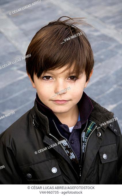 6 years old spanish boy portrait