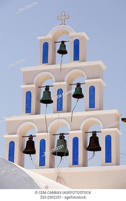 Oia village, Santorini, Cyclades Islands, Greek Islands, Greece, Europe