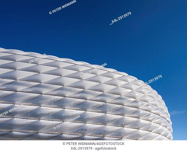 Famous football stadium Allianz Arena in Munich, Bavaria, Germany, Europe