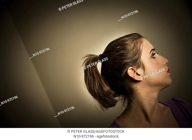 Young woman with a ponytail