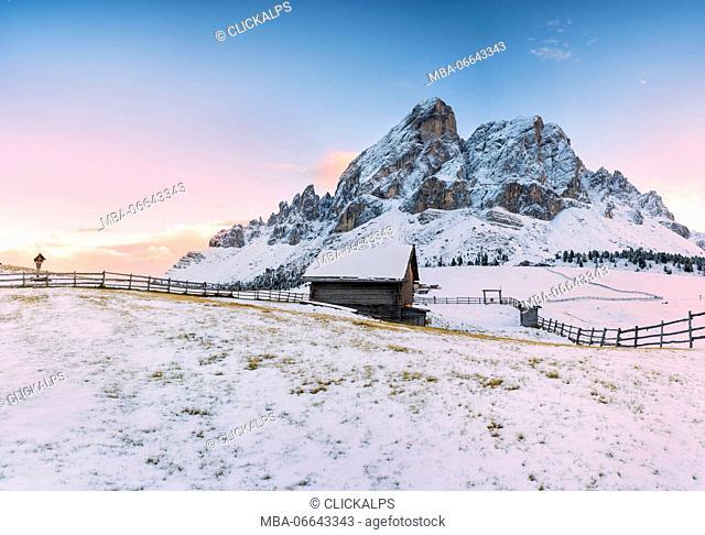 Sass de Putia,Passo delle Erbe, Province of Bolzano, Trentino alto Adige, Italy