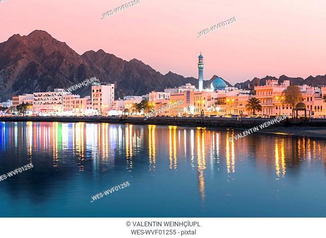 Mutrah at sunset, Muscat, Oman