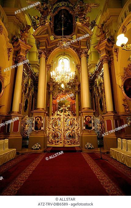 MAIN ALTAR OF CATHEDRAL OF ST. YURIY; LVIV, UKRAINE; 02/09/2007