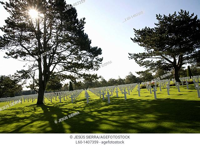 American Military Cemetery Colleville sur Mer Normandy France