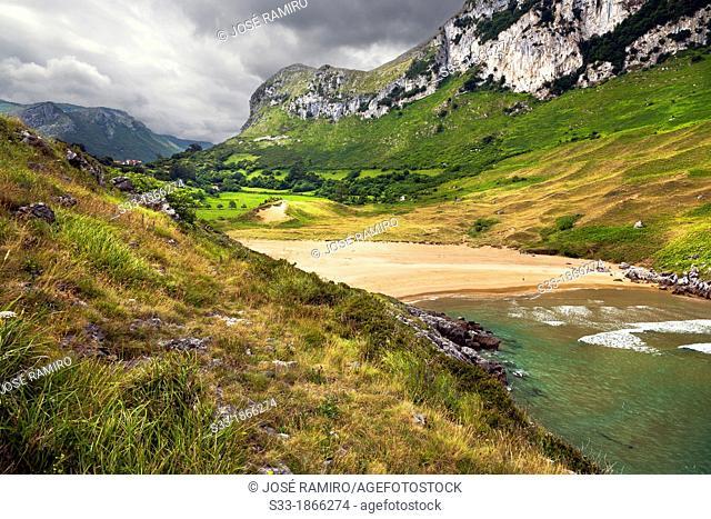 Valdearenas's beach in Sonabia  Santander  Cantabria  Spain