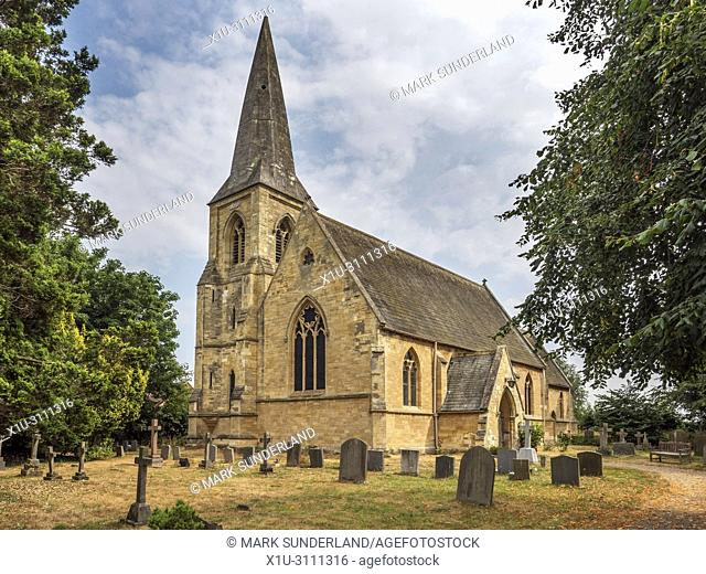 Parish church of St Matthew in the village of Naburn near York Yorkshire England