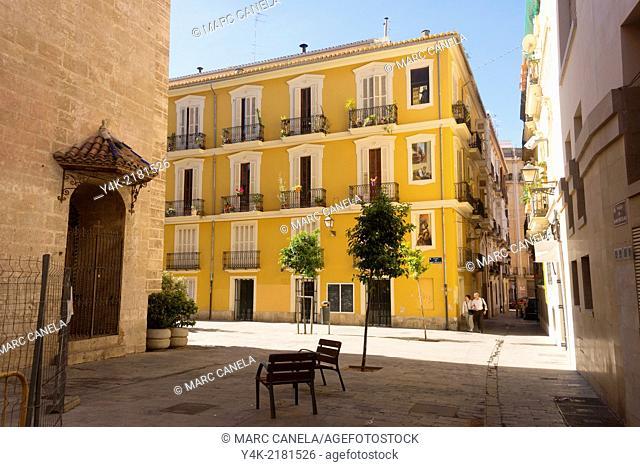 Europe, Spain, Valencia, plaza Sant Nicolau
