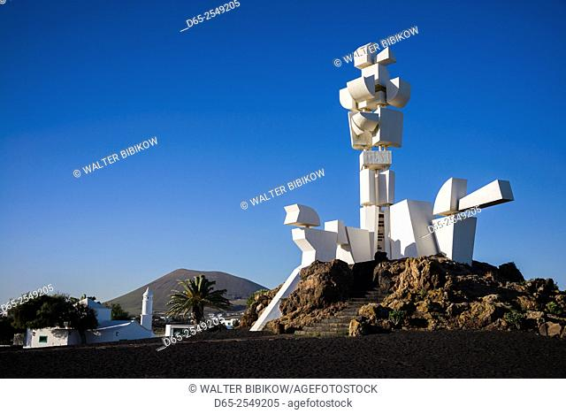 Spain, Canary Islands, Lanzarote, San Bartolome, Monumento al Campesino, Peasants Monument by Cesar Manrique