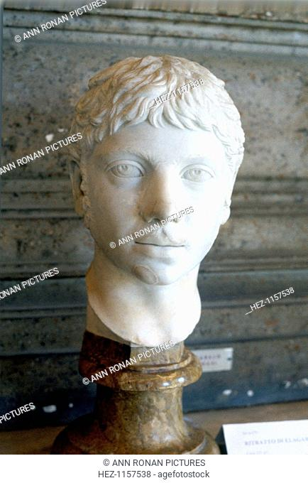 Heliogabalus, Roman Emperor of the 3rd century. Emperor from 218, Heliogabalus (Elagabalus) (204-222) was murdered by praetorians in a palace revolution