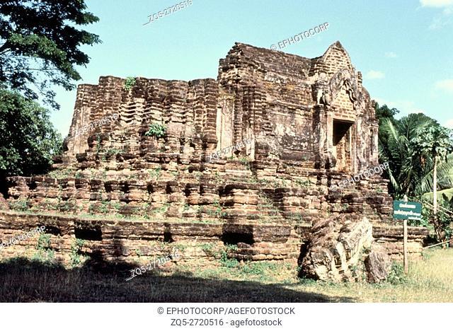 Wat Chulamani, Phitsanulok, Thailand. Prang Base