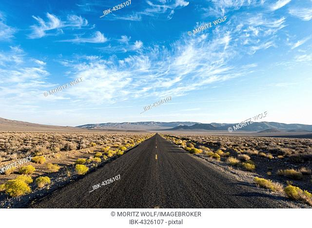 Highway, road, Death Valley, Death Valley National Park, California, USA