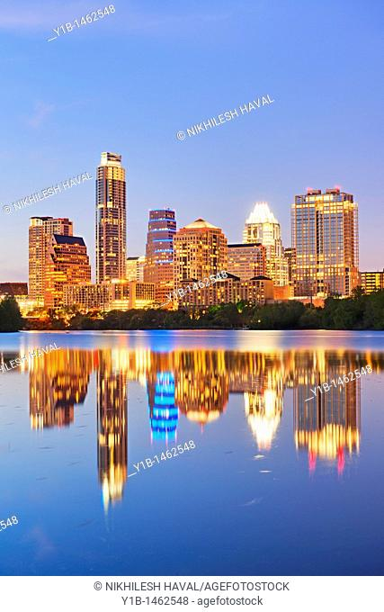 2010 Austin skyline, Texas