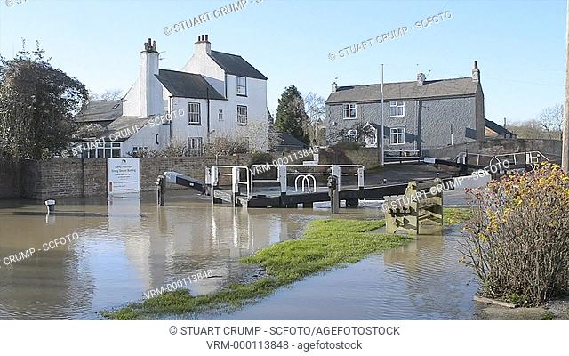 Floods at the Waterside Inn in Mountsorrel, Leicestershire