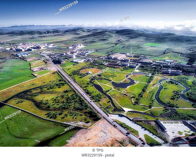 aerial photography of ruoergai country;Sichuan Province;China