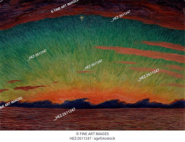 Sunset 15, 1956. Artist: Rivera, Diego-Maria (1866-1957)