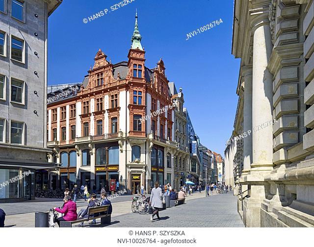 Klingerhaus and Peterstrasse, Leipzig, Saxony, Germany