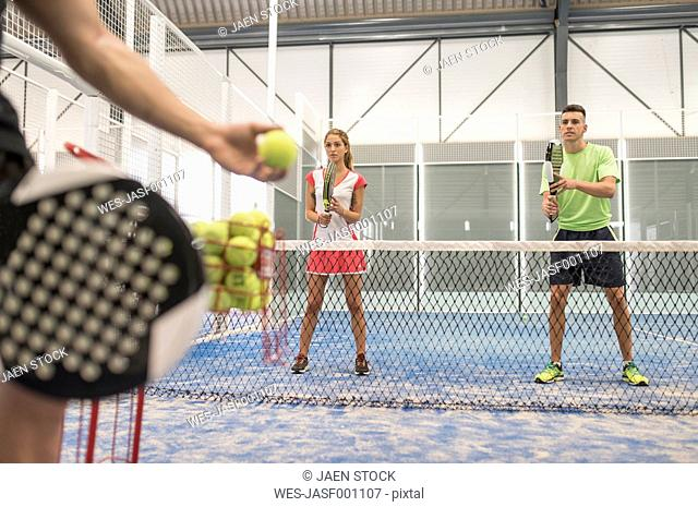 Paddle tennis class
