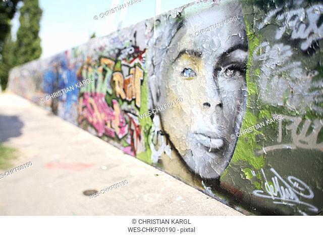 Germany, Berlin, painted wall