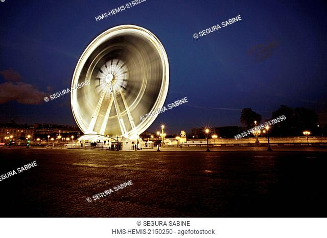 France, Paris, Place de la Concorde and the Grande Roue (Great Wheel)