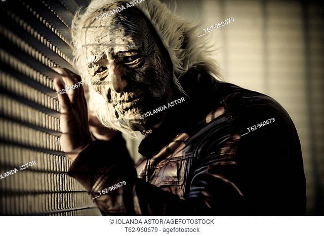 Man monstrous face  Mask  Crazy  Color
