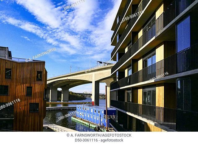 Stockholm, Sweden The newly built residential housing complex known as Grondal Strand