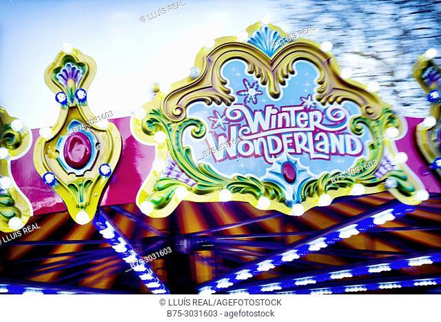 Winter Wonderland in Hyde Park. Hyde Park, London, England