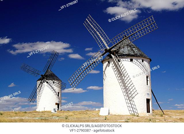 Campo de Criptana, Castilla-La Mancha, Spain. The windmills of Don Quixote