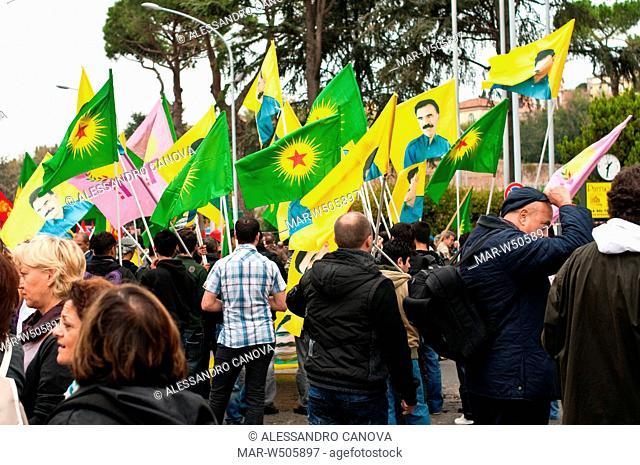 operai turchi, ocalan, partito pkk, manifestazione nazionale fiom-cgil in difesa del contratto nazionale dei metalmeccanici, roma, 16 ottobre 2010