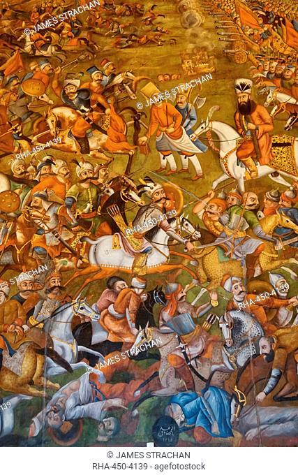 Iran, Isfahan, Chehel Sotoun palace, Stock Photo, Picture
